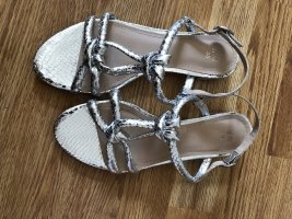 H&M Strapped Sandals silver-colored