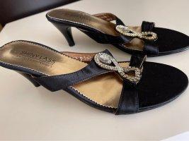Sandały japonki czarny-srebrny