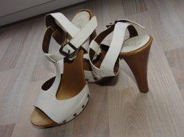 Hoge hakken sandalen wit