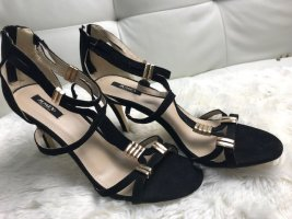 Sandalen 40 Schwarz mit Absatz