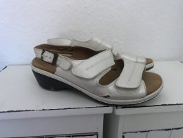 Sandalias para uso en exteriores gris claro-color plata