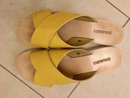 DOMINICI Outdoor Sandals dark yellow leather