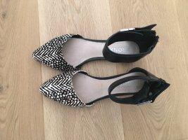 Bronx Sandales confort noir-blanc
