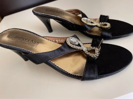 Sandalo Dianette nero-argento