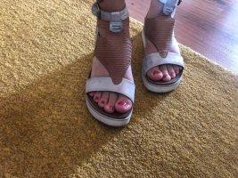 Mjus Platform High-Heeled Sandal silver-colored-rose-gold-coloured