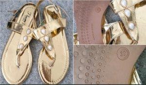 Flip-Flop Sandals gold orange