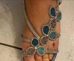 Alma en Pena Strapped Sandals slate-gray
