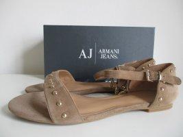 Armani Sandales confort beige cuir