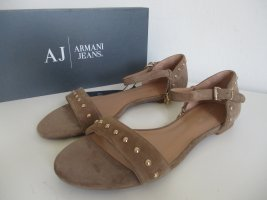 Armani Sandals camel leather
