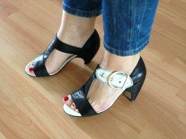Bianco Sandals white-black