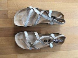 Birkenstock Sandalen met bandjes licht beige-wit Leer