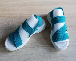 Sandales confort turquoise