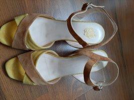 Apple of eden Sandały outdoor jasny pomarańczowy-ciemny żółty Skóra