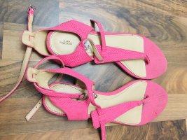 Zara Sandały japonki różowy
