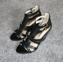 Buffalo London Platform Sandals black leather
