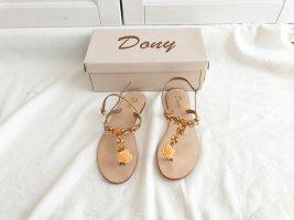 Sandalen Dony Italien Komplett Echtleder Echt Leder Schuhe Ballerinas 38 Sommerschuhe Orange Rose