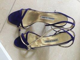 Manolo Blahnik Outdoor Sandals dark violet