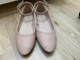 Sandalias para uso en exteriores color rosa dorado-rosa