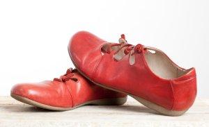 Josef seibel Ballerines à lacets rouge framboise cuir