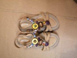 Sandales confort marron clair
