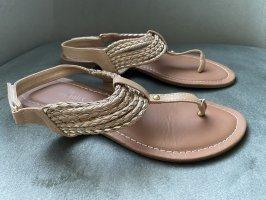 Sandalen gold-beige