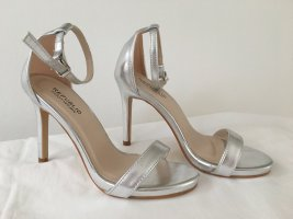 republic Strapped Sandals silver-colored-light grey