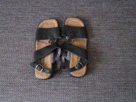Sandalen, Gr.37, schwarz, Leder