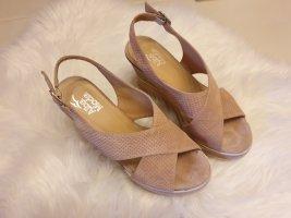 Alba Moda Plateauzool sandalen rosé Leer