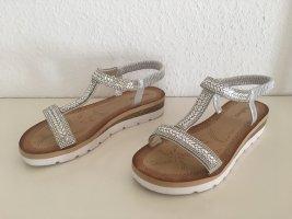 Platform High-Heeled Sandal silver-colored