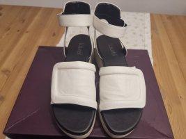 Laurèl Platform Sandals white leather