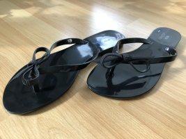 Sandalo toe-post nero Materiale sintetico