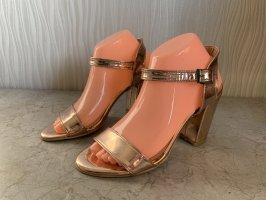 Sandalen met bandjes en hoge hakken veelkleurig