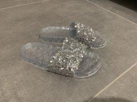 Sandalen mit Glitzer
