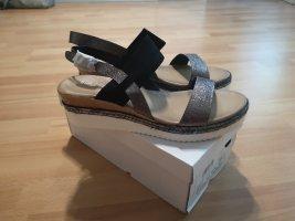 Sandalen mit Keilabsatz, Gr. 41