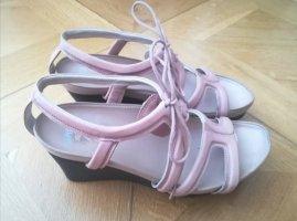 Camper Platform Sandals black-pink
