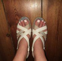 Sandalen mit Keilabsatz Tommy Hilfiger nude beige