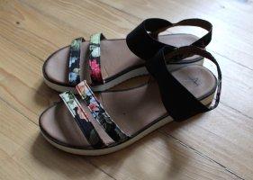 Anna Field Plateauzool sandalen zwart-beige