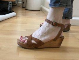 Sandalen mit Plateauabsatz, Größe 40