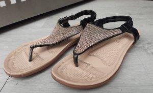 unknown Sandalias de tacón con talón descubierto negro-color rosa dorado