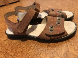 Strapped Sandals multicolored imitation leather