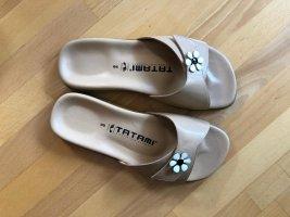 Birkenstock Comfortabele sandalen licht beige Leer