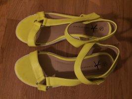 Atmosphere Sandalias de tiras amarillo neón