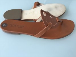 Peter Kaiser Toe-Post sandals brown leather