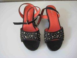 Graceland Sandalias con plataforma negro-rojo ladrillo