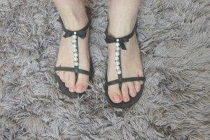 Sandalen Schuhe Perlen Schleife süß