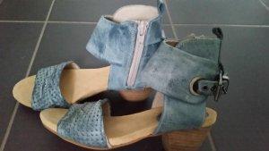 Sandalen, Schuhe, Sadalette, echtleder, hellblau, gr. 37 DKODE