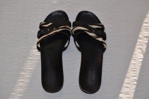 Sandalen * schwarz * Mexx * Zebra-Muster * Strass * 39