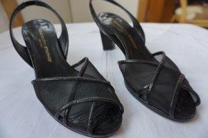 Sandalen schwarz Peeptoe Konstantin Starke Größe 38