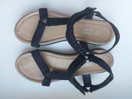 Sandalen sportlich Klettverschluss schwarz Gr.38