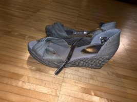 Tommy Hilfiger Plateauzool sandalen zilver-lichtgrijs